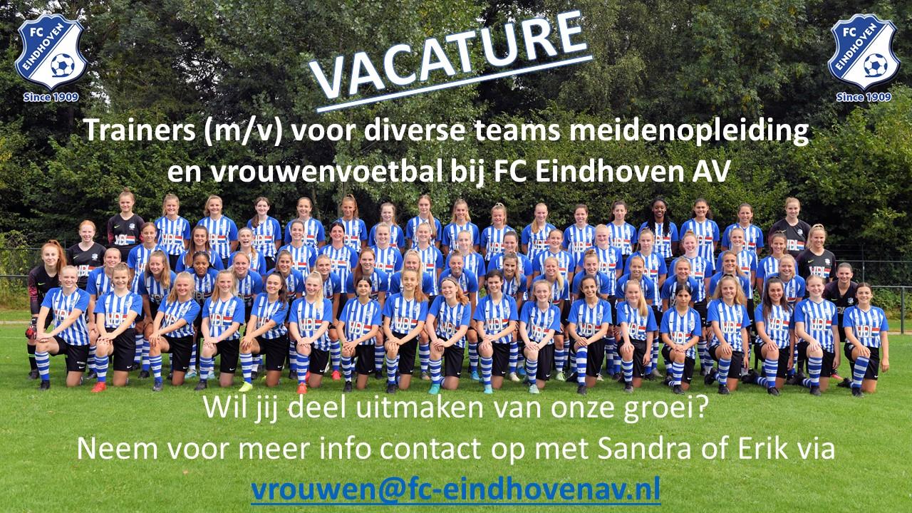 Vacature: trainers voor onze meiden(opleiding) en vrouwenteams.